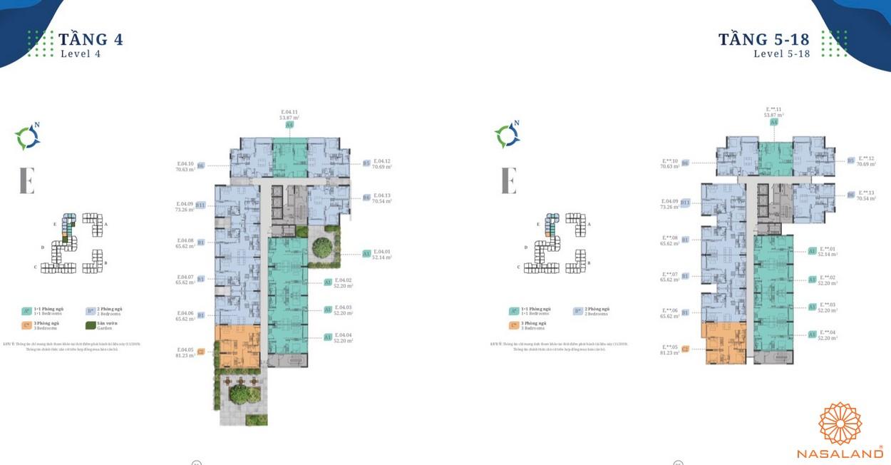 Mặt bằng block E dự án căn hộ Lovera Vista Bình Chánh