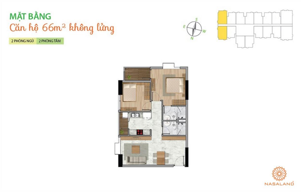 Mặt bằng dự án căn hộ La Astoria quận 2 - căn 2PN