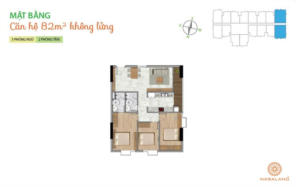Mặt bằng dự án căn hộ La Astoria quận 2 - 3PN