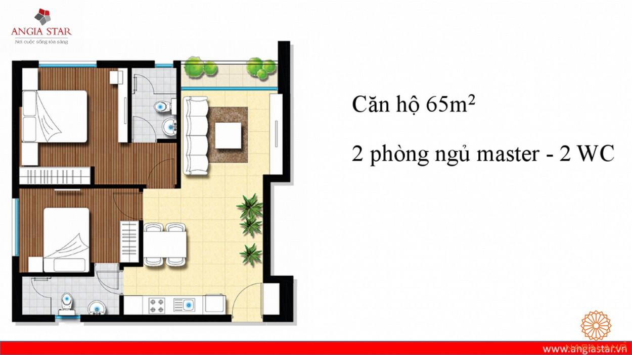 Thiết kế căn hộ An Gia Star 65m2