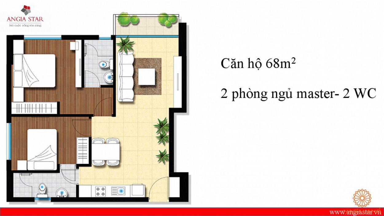 Thiết kế căn hộ An Gia Star 68m2