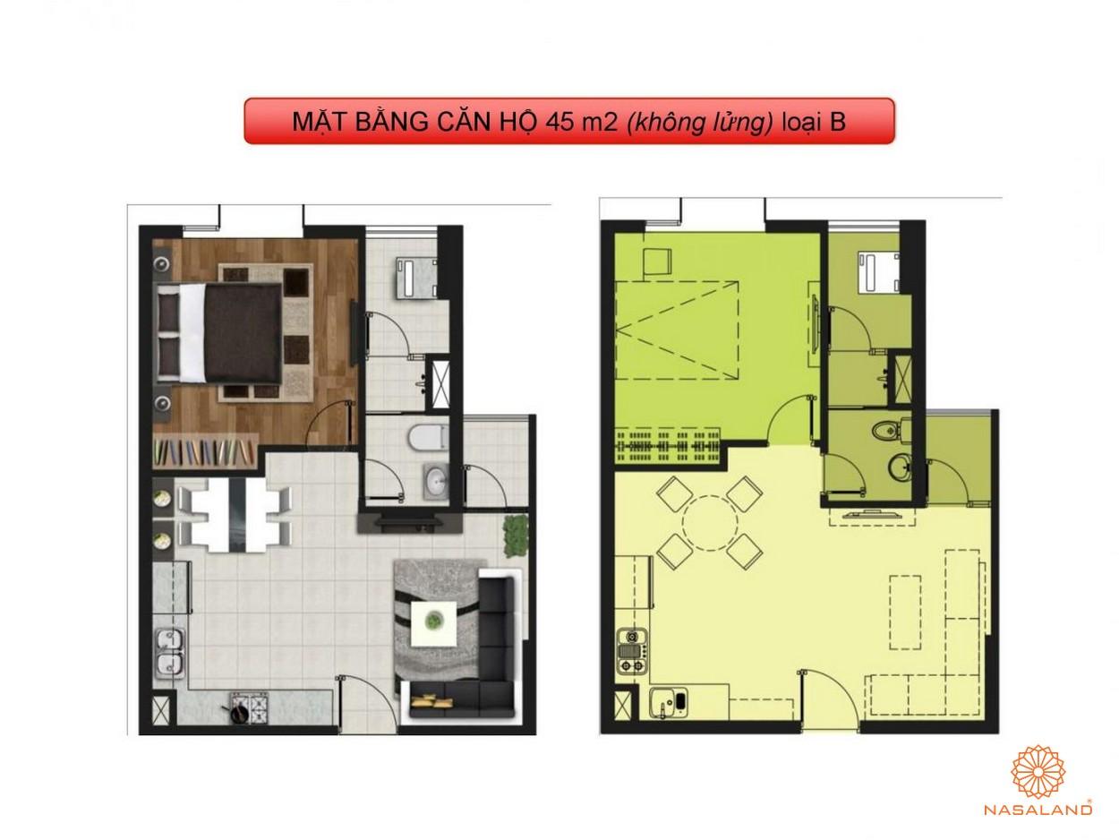 Mặt bằng dự án căn hộ La Astoria quận 2 loại B