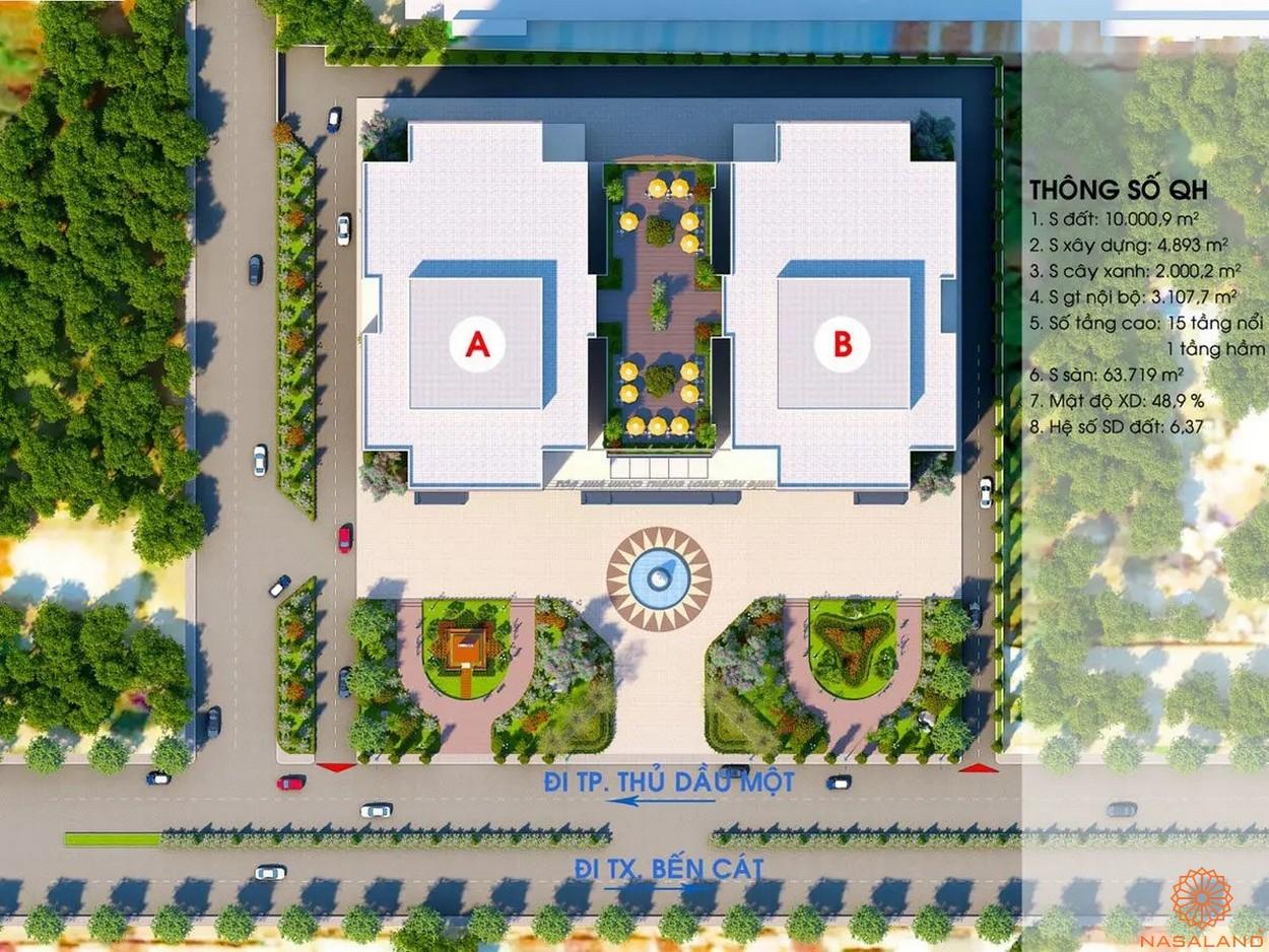 Mặt bằng dự án căn hộ Unico Thăng Long - tổng thể