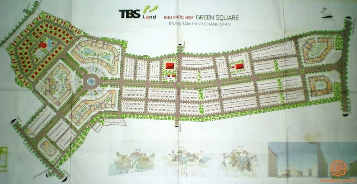 Mặt bằng dự án căn hộ Green Square Dĩ An Bình Dương