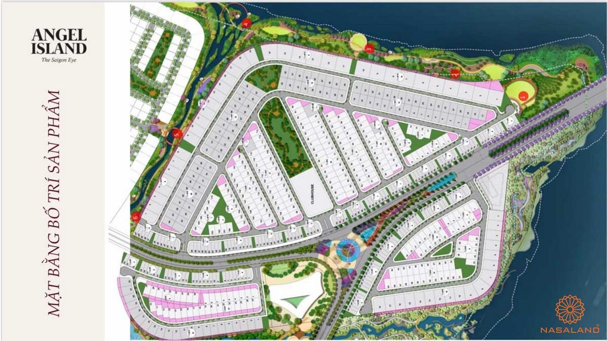 Dự án Angel Island mặt bằng giai đoạn 1