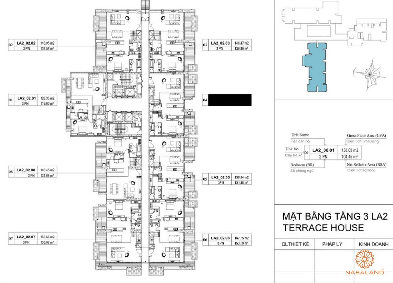 Mặt bằng dự án căn hộ La Astoria quận 2 - tầng 3