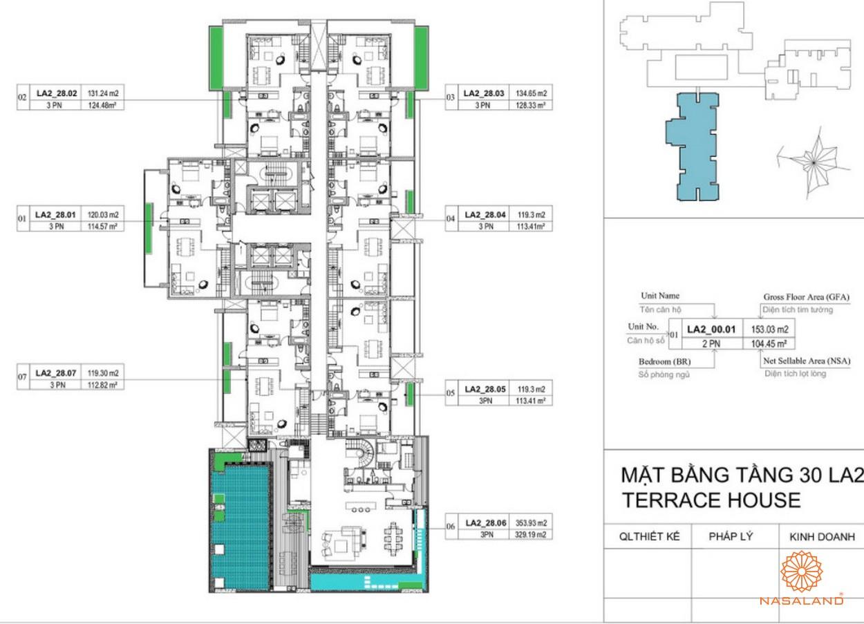Mặt bằng dự án căn hộ La Astoria quận 2 - tầng 30