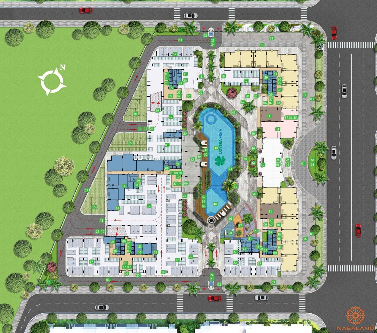 Mặt bằng tiện ích dự án căn hộ Lovera Vista Bình Chánh