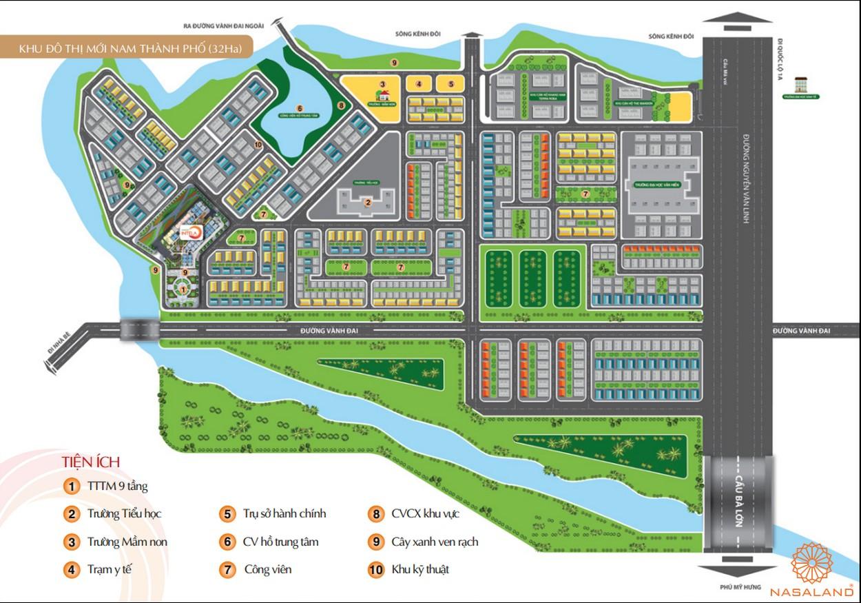 Mặt bằng tiện ích nội khu dự án căn hộ Saigon Intela