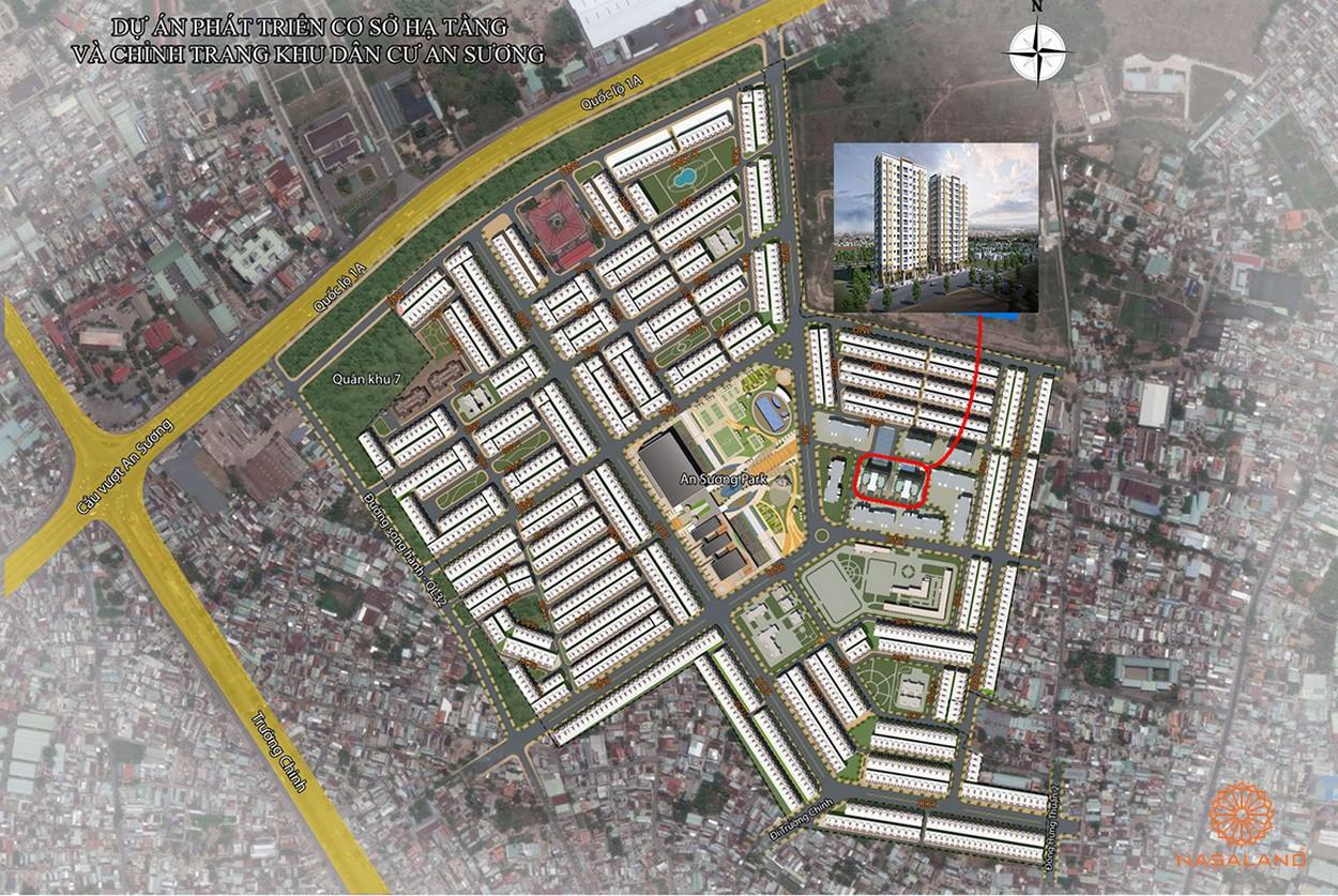 Mặt bằng tổng quan căn hộ tại dự án An Sương I-Park quận 12