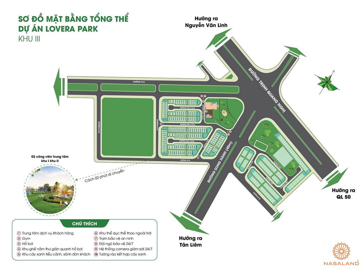 Mặt bằng tổng thể dự án căn hộ Lovera Park Bình Chánh