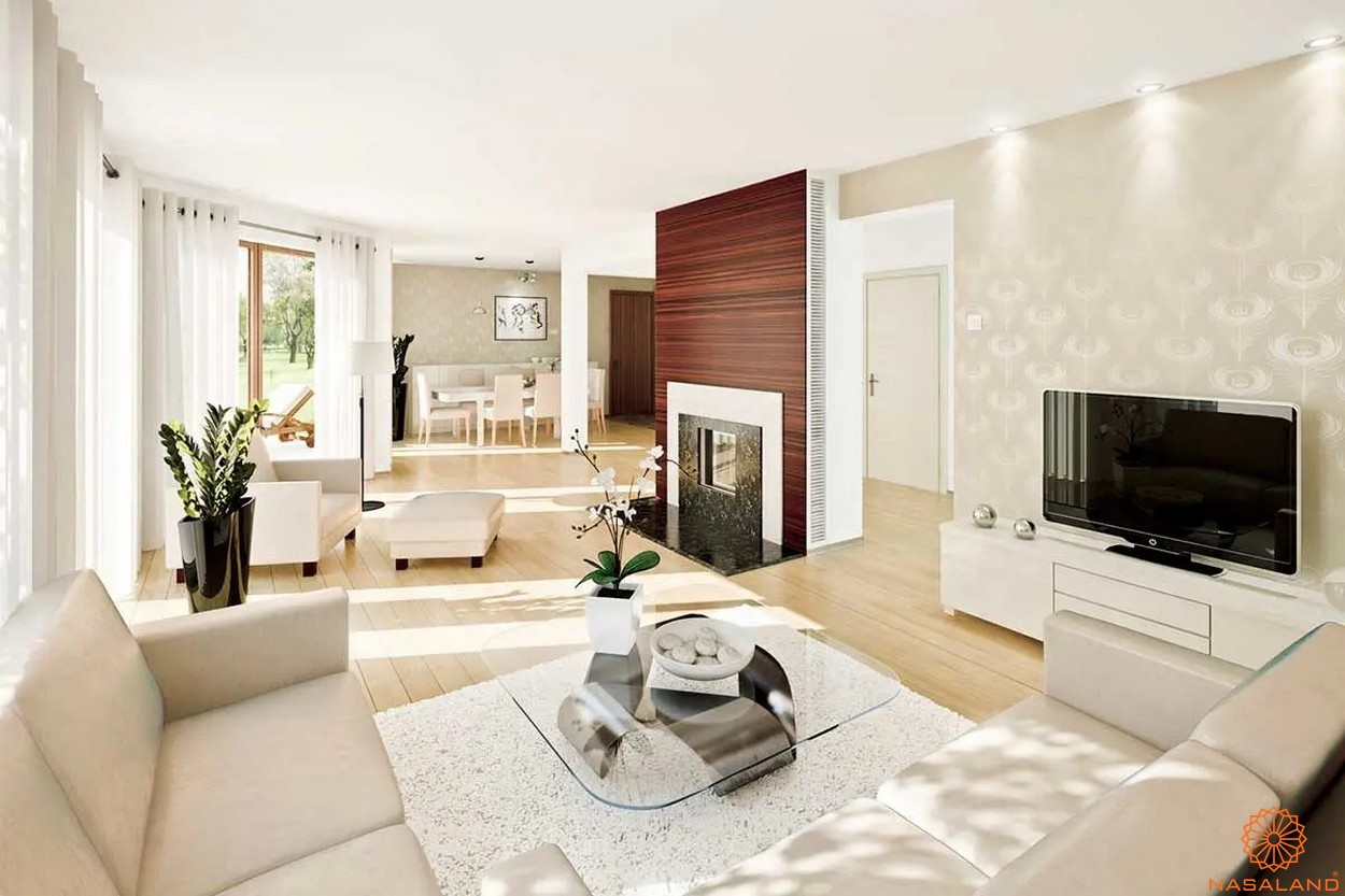 Nhà mẫu dự án căn hộ Unico Thăng Long - phòng khách