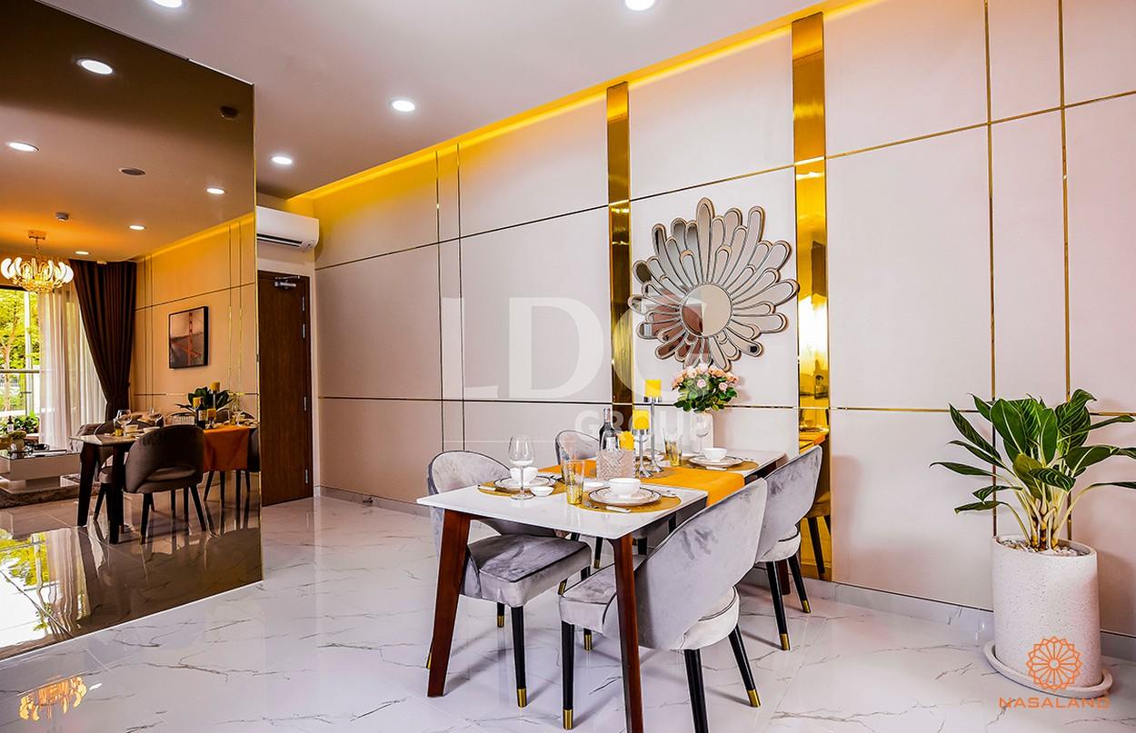 Nội thất bàn ăn tại căn hộ LDG River Thủ Đức