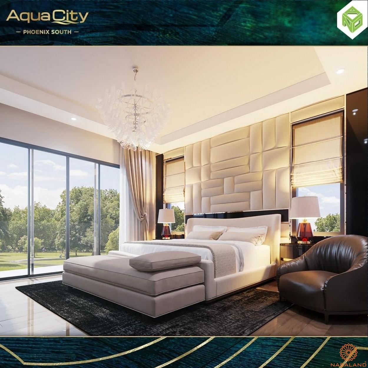 Nội thất dự án biệt thự Aqua City Đảo Phượng Hoàng Đồng Nai - phòng ngủ