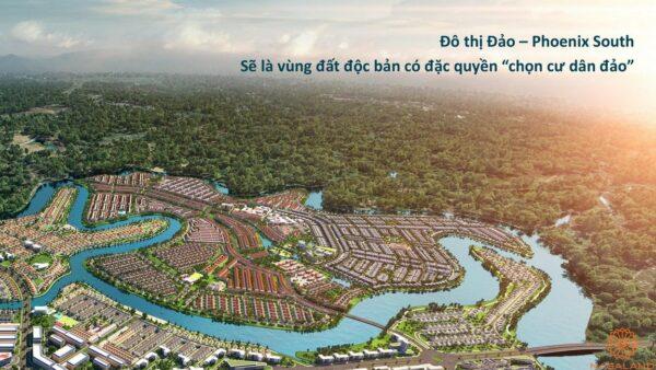 Phối cảnh tổng thể dự án biệt thự Aqua City Đảo Phượng Hoàng Đồng Nai