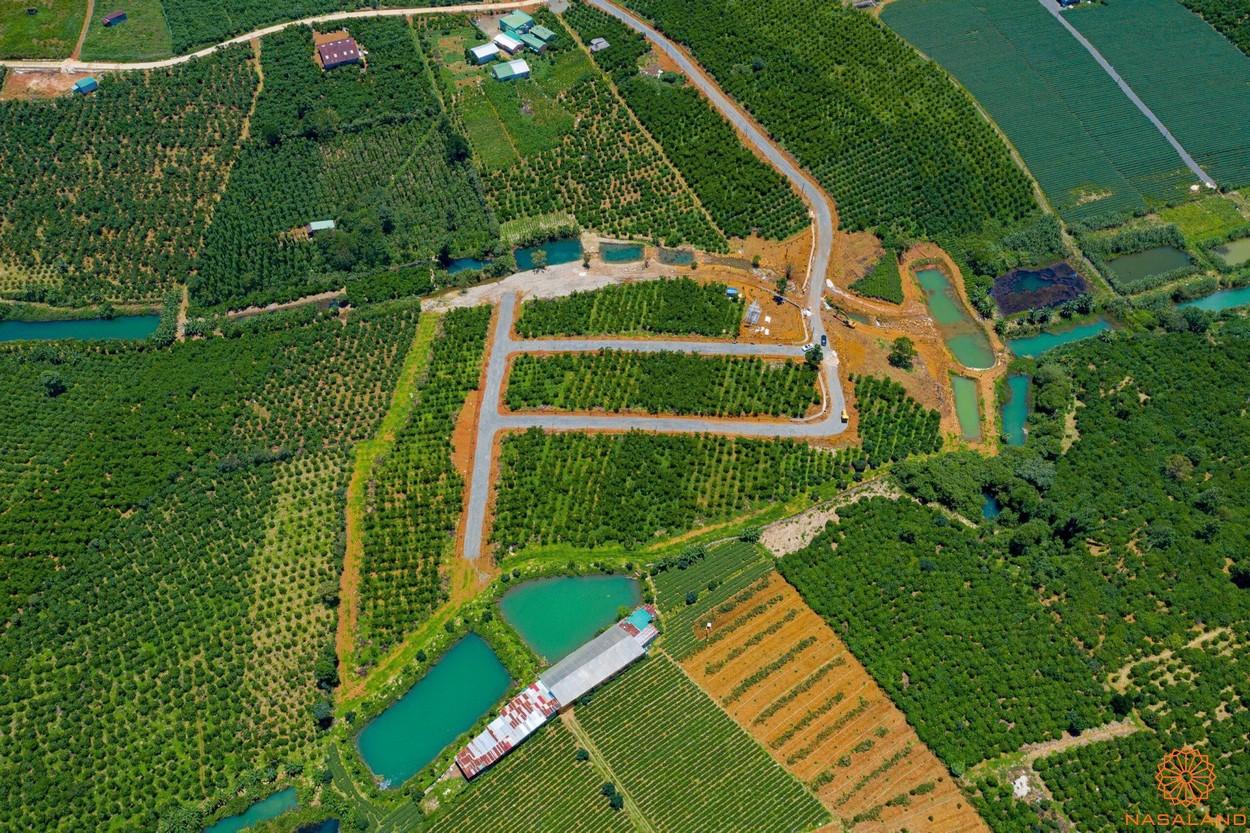 Phối cảnh dự án đất vườn 70 Damb'ri Bảo Lộc Lâm Đồng - ảnh từ trên cao