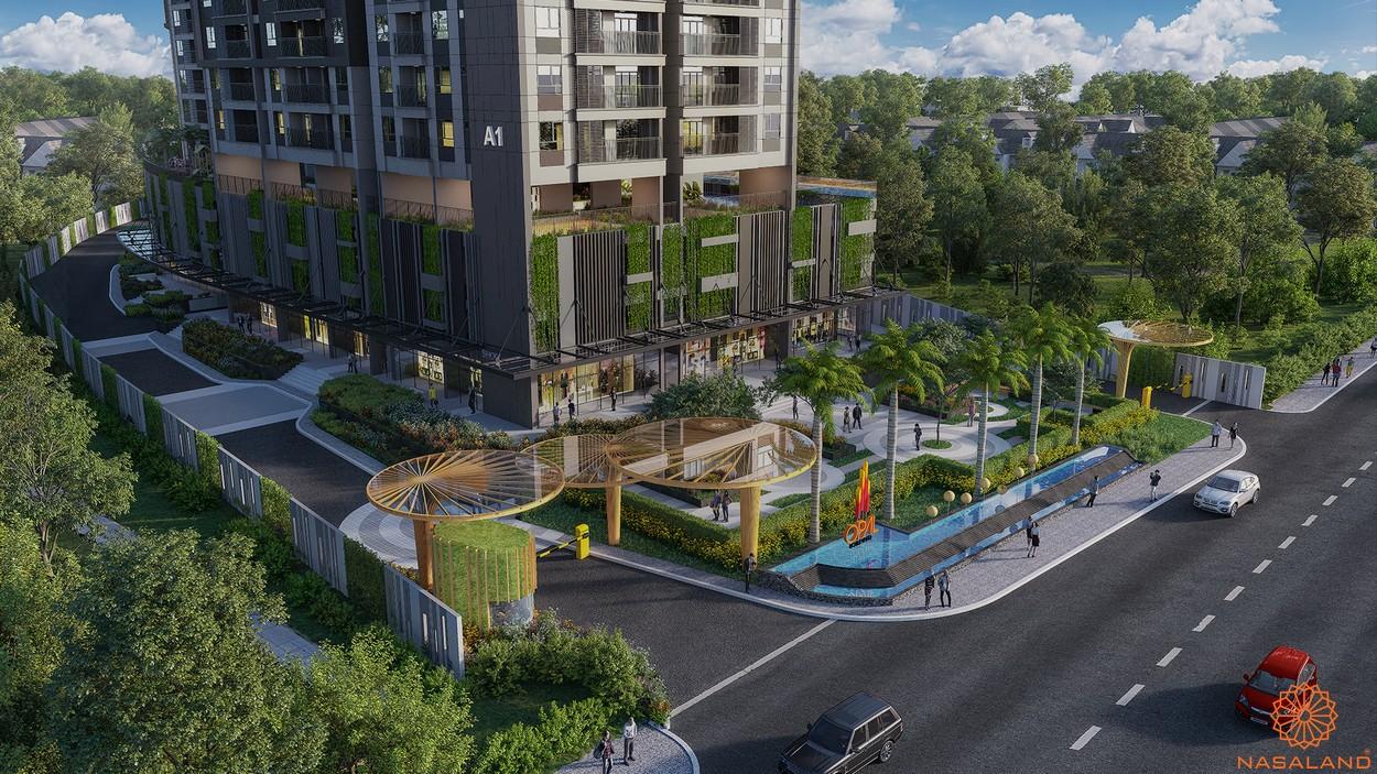 Phối cảnh khuôn viên dự án căn hộ Opal Boulevard Bình Dương