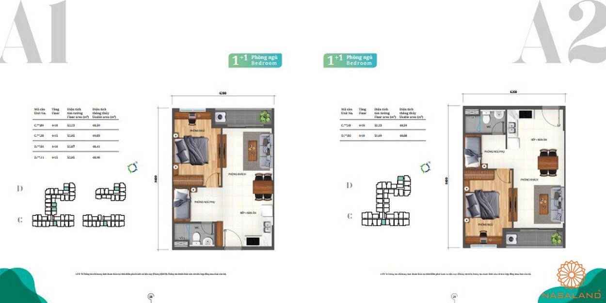Thiết kế căn hộ 1pn Lovera Vista Bình Chánh