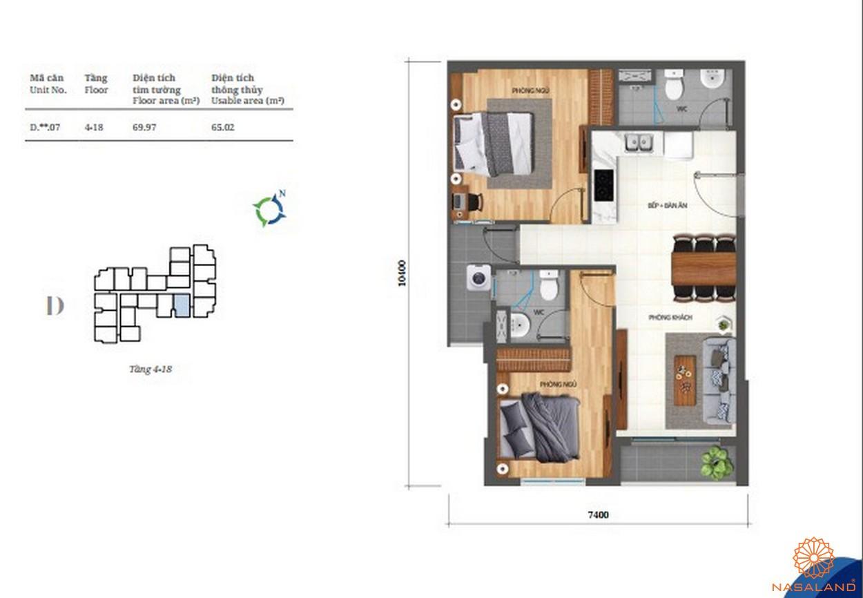 Thiết kế căn hộ 2pn Lovera Vista Bình Chánh