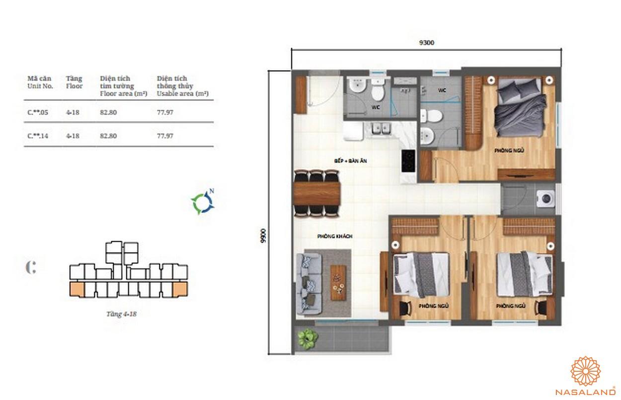 Thiết kế căn hộ 3pn Lovera Vista Bình Chánh