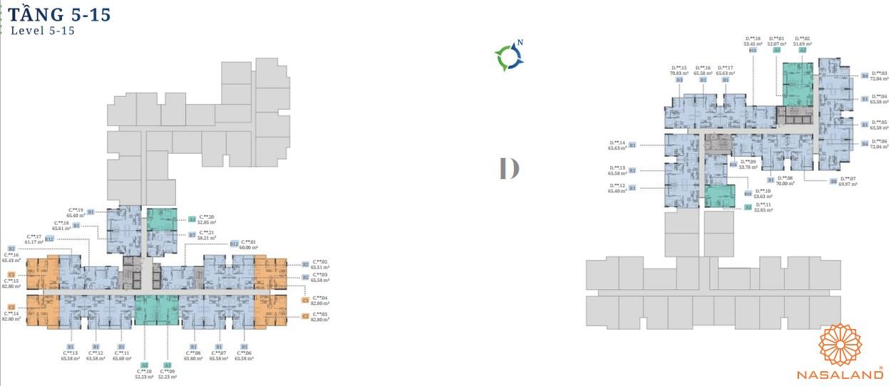 Mặt bằng block C- D dự án căn hộ Lovera Vista Bình Chánh
