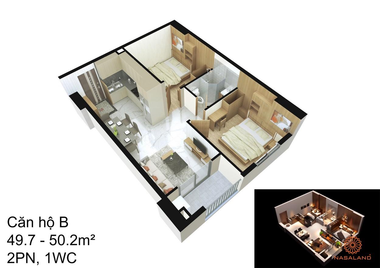 Thiết kế căn hộ B tại dự án An Sương I-Park quận 12