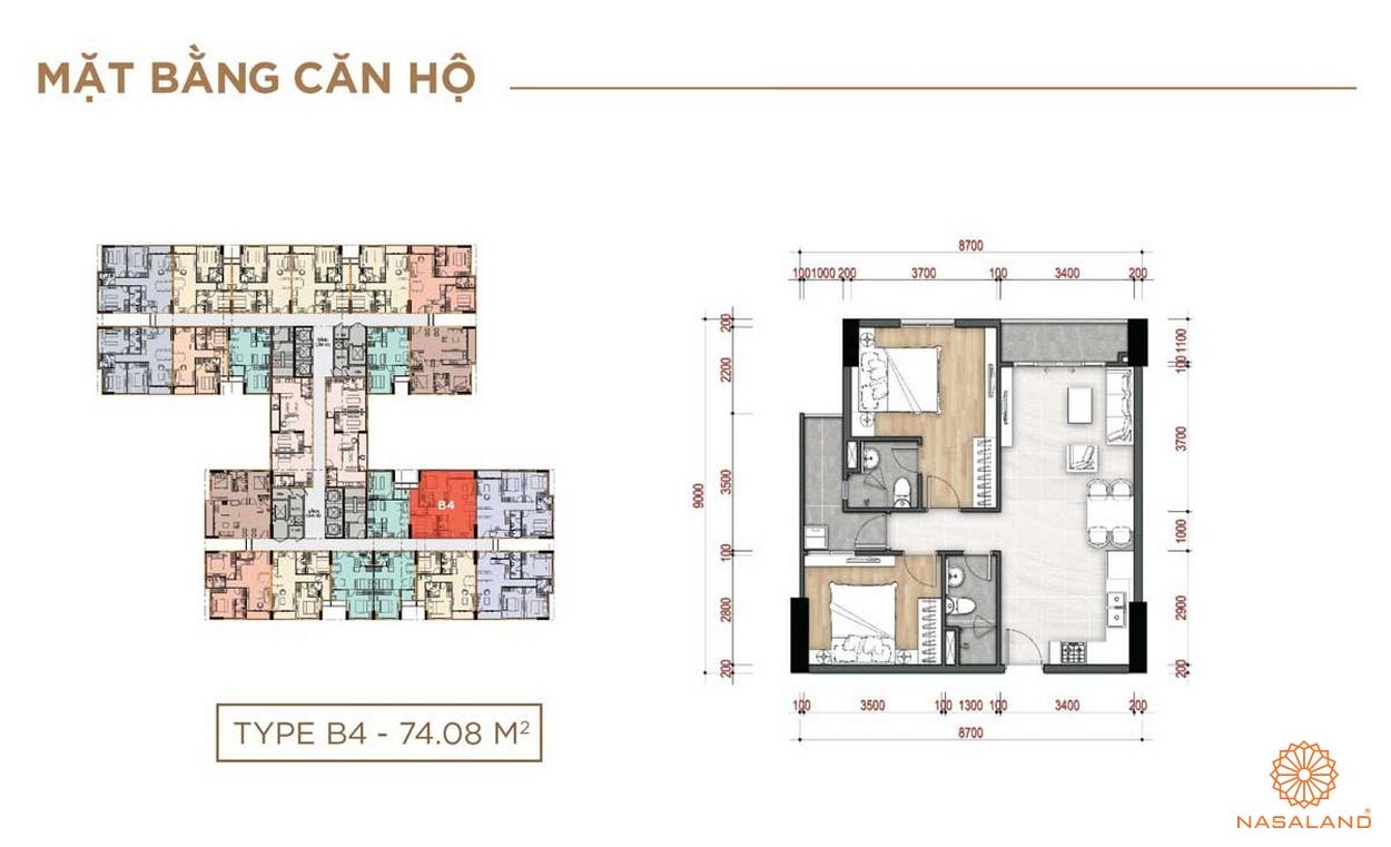 thiết kế của căn hộ La Partenza