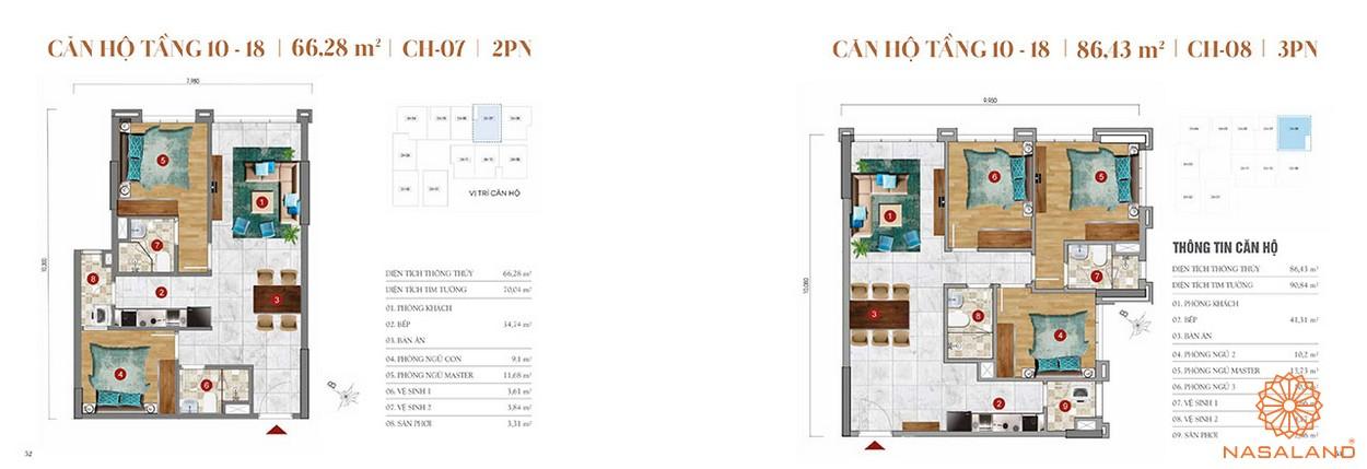 Thiết kế căn hộ 2PN dự án căn hộ ST Moritz Thủ Đức