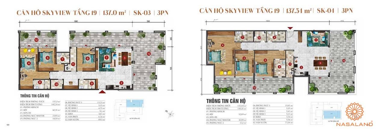 Thiết kế căn hộ sân vườn 3PN dự án căn hộ ST Moritz Thủ Đức