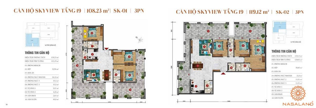 Thiết kế căn hộ sân vườn 3PN tầng 19 dự án căn hộ ST Moritz Thủ Đức