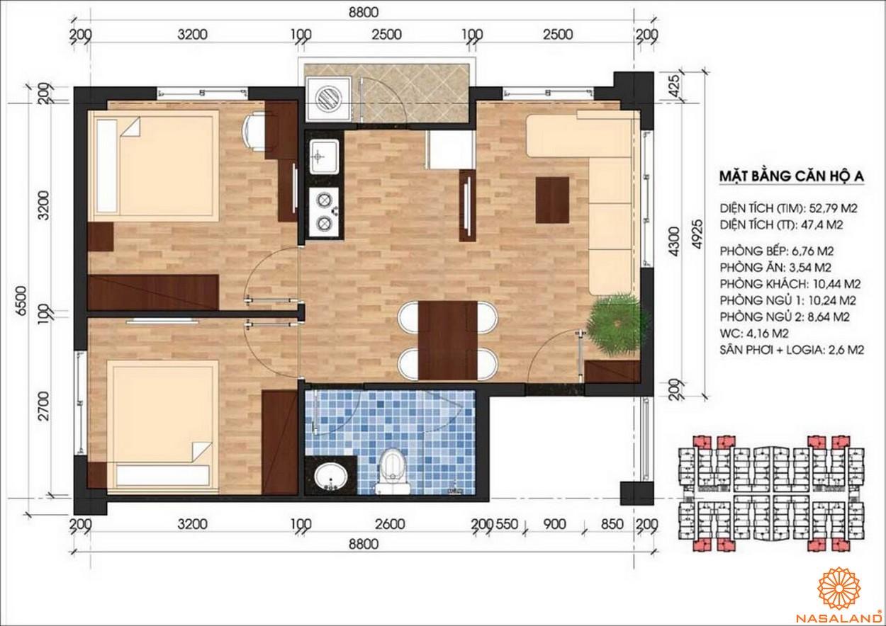 Thiết kế dự án căn hộ Unico Thăng Long - mẫu A