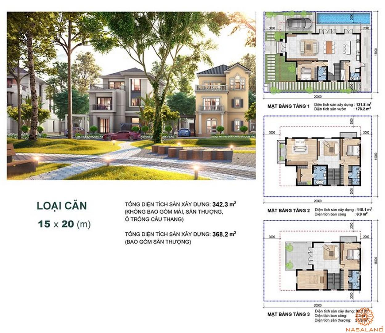 Thiết kế dự án biệt thự Aqua City Đảo Phượng Hoàng Đồng Nai - bt đơn lập
