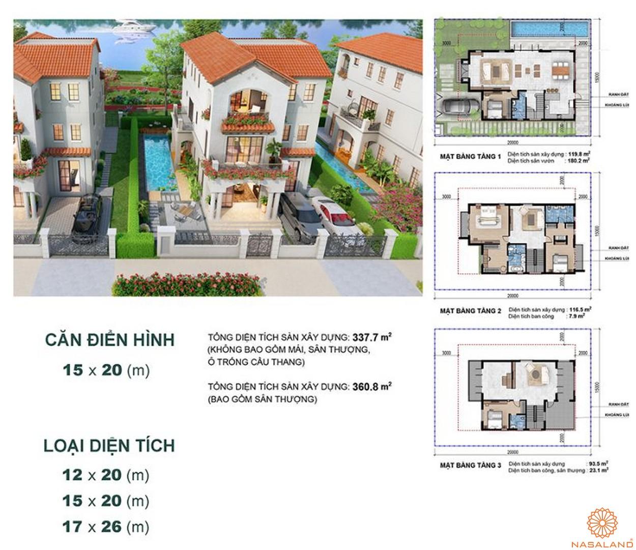 Thiết kế dự án biệt thự Aqua City Đảo Phượng Hoàng Đồng Nai - biệt thự đơn lập