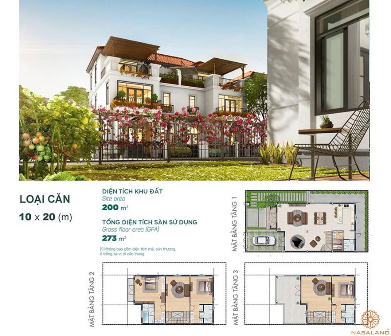 Thiết kế dự án biệt thự Aqua City Đảo Phượng Hoàng Đồng Nai - bt song lập