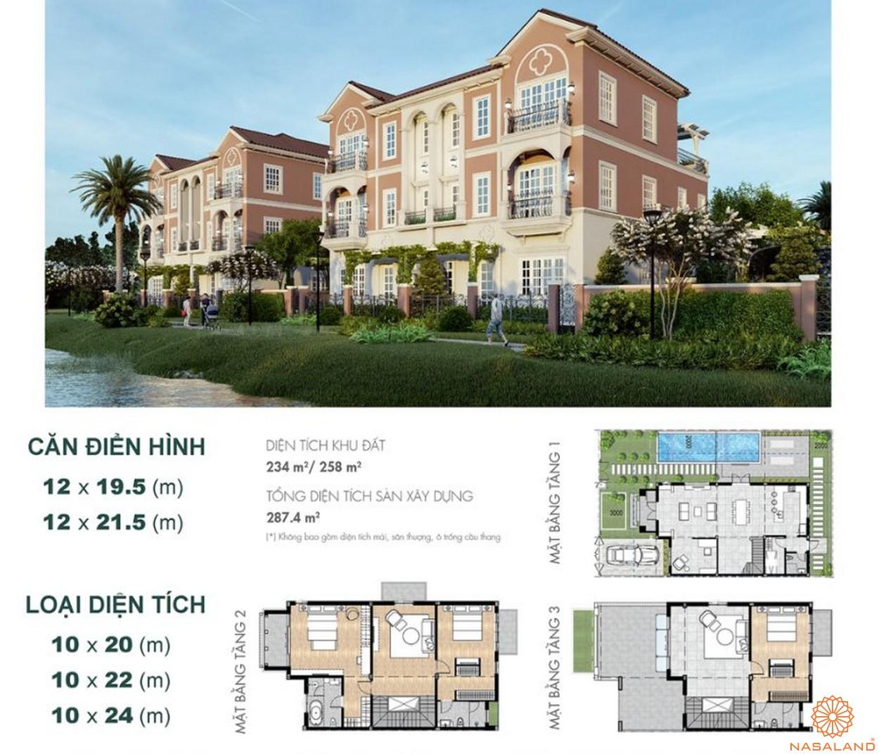 Thiết kế dự án biệt thự Aqua City Đảo Phượng Hoàng Đồng Nai - biệt thự song lập