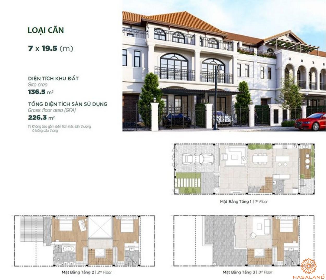 Thiết kế dự án biệt thự Aqua City Đảo Phượng Hoàng Đồng Nai - nhà phố 1