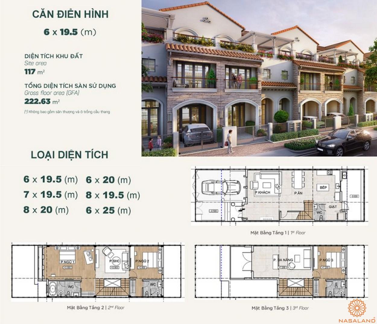 Thiết kế dự án biệt thự Aqua City Đảo Phượng Hoàng Đồng Nai - nhà phố