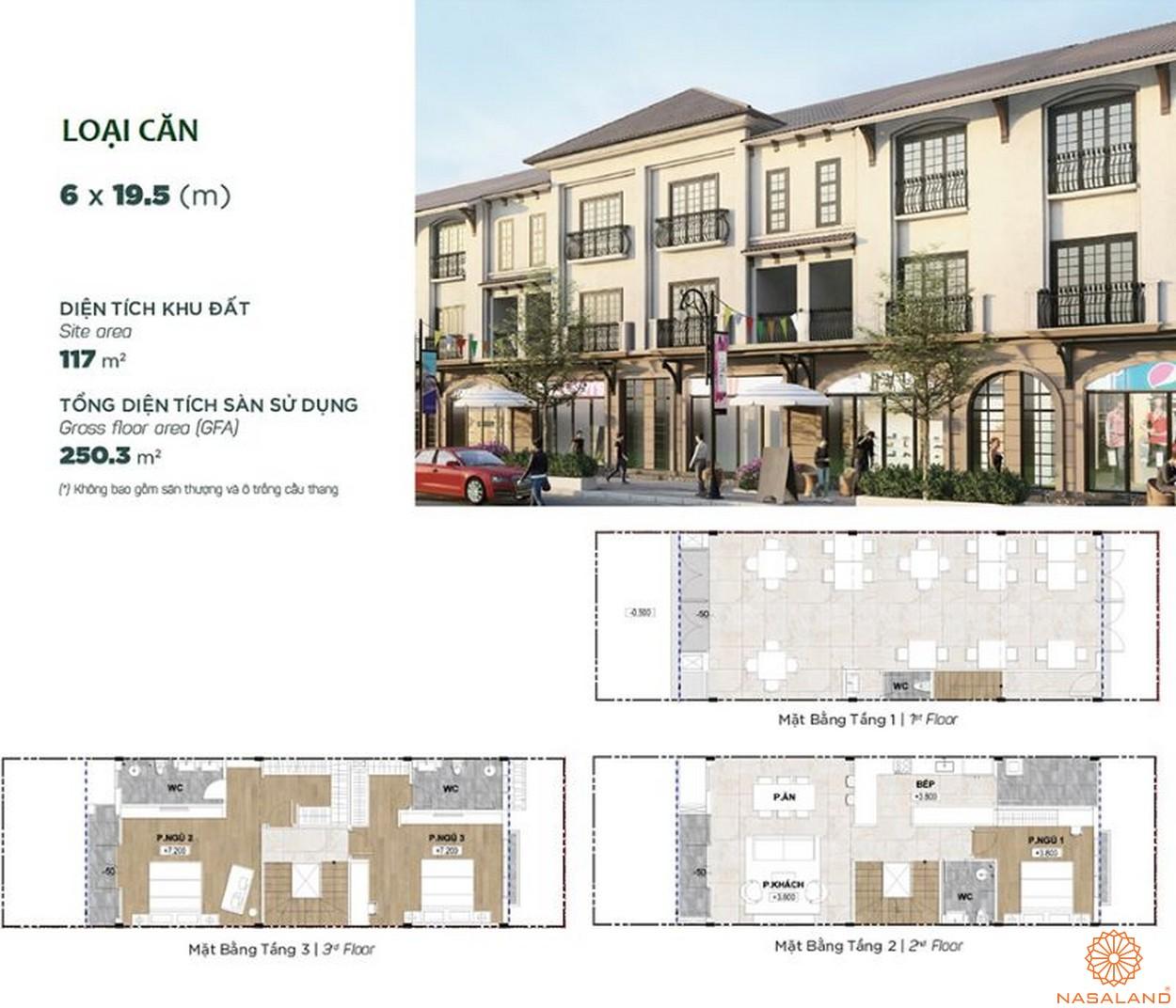 Thiết kế dự án biệt thự Aqua City Đảo Phượng Hoàng Đồng Nai - shophouse 1