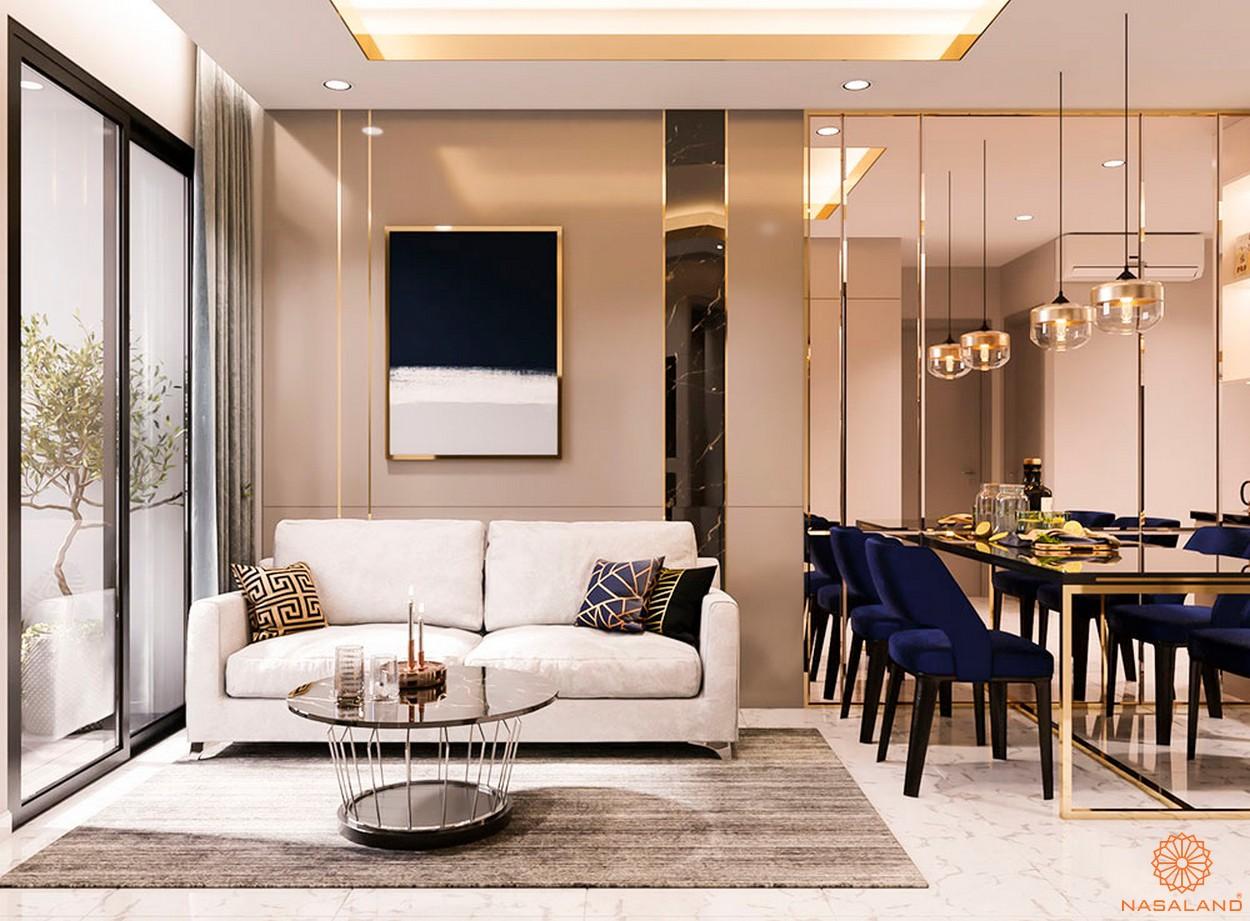 Thiết kế dự án căn hộ Happy One Central Bình Dương - phong khách