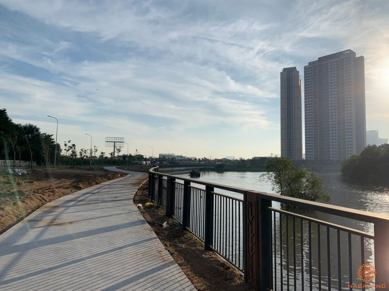 Tiến độ xây dựng dự án Palm City - công viên dạo bộ ven sông
