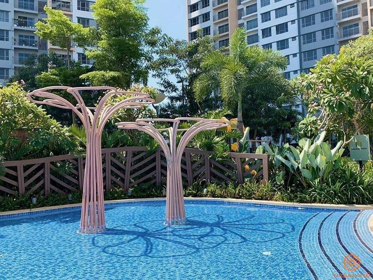 Tiến độ xây dựng dự án Palm City - hồ boi