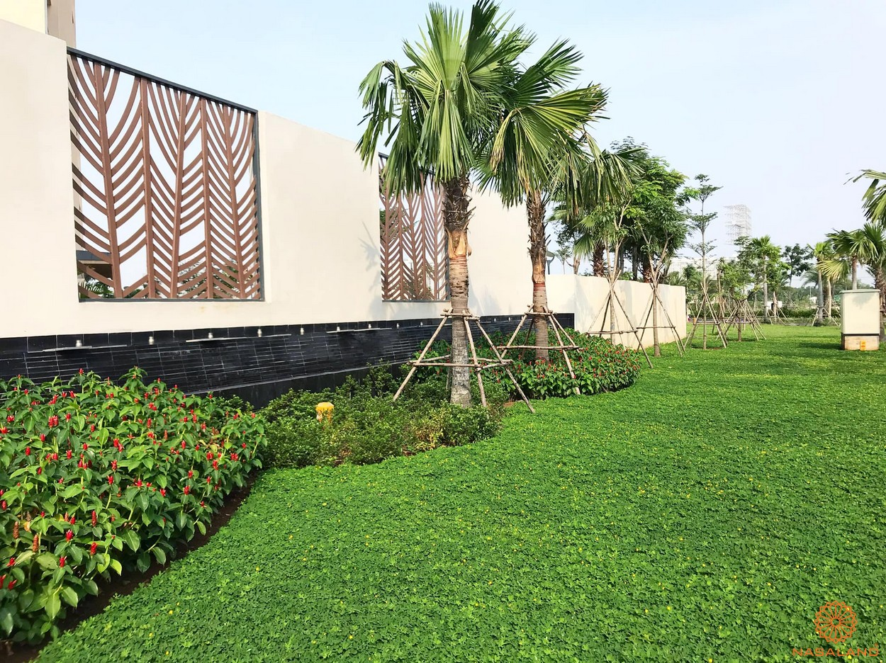 Tiến độ xây dựng dự án Palm City - mảng xanh ngay cổng chào