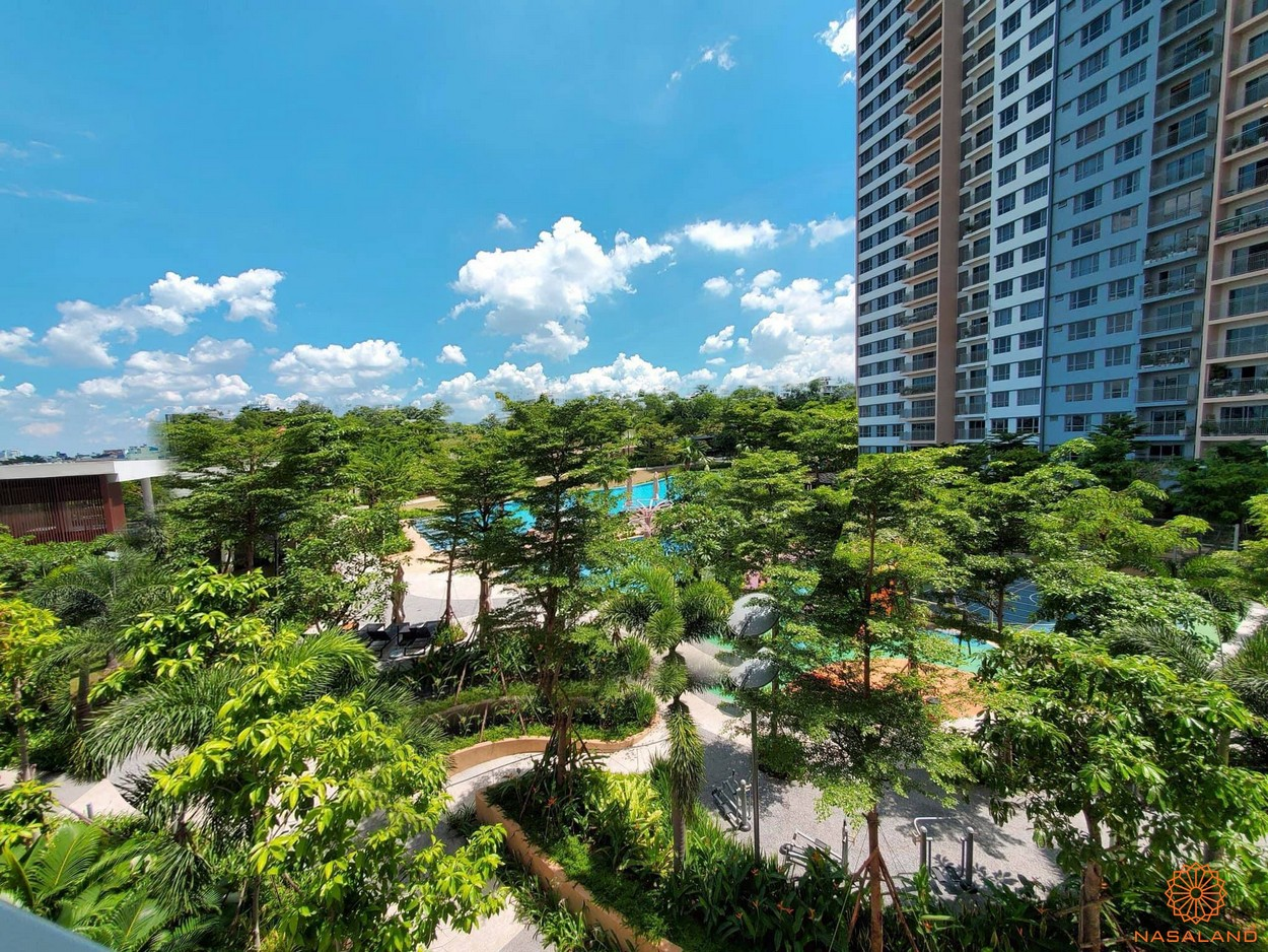 Tiến độ xây dựng dự án Palm City - không gian nội khu được phủ xanh