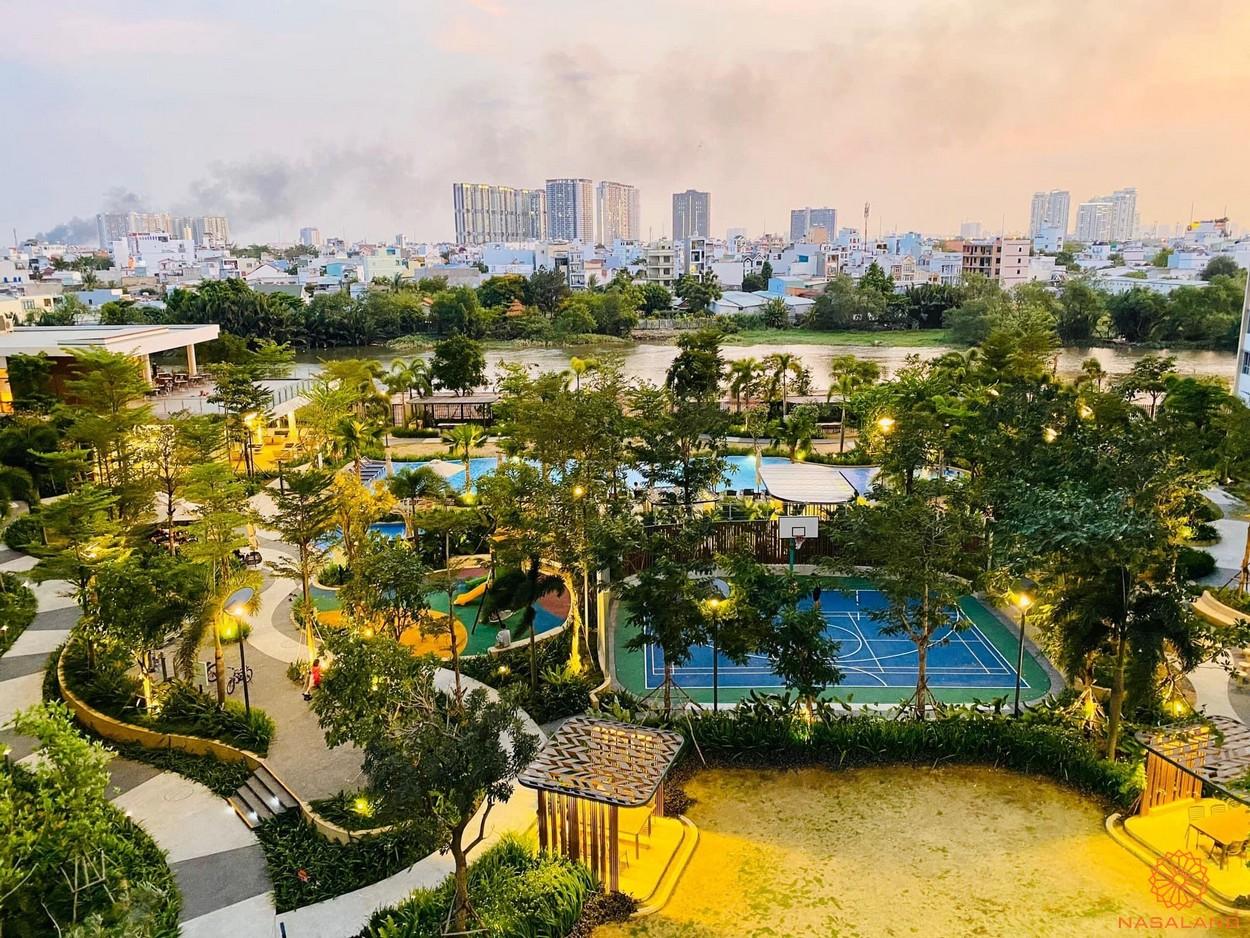 Tiến độ xây dựng dự án Palm City - tổng thể không gian tiện ích