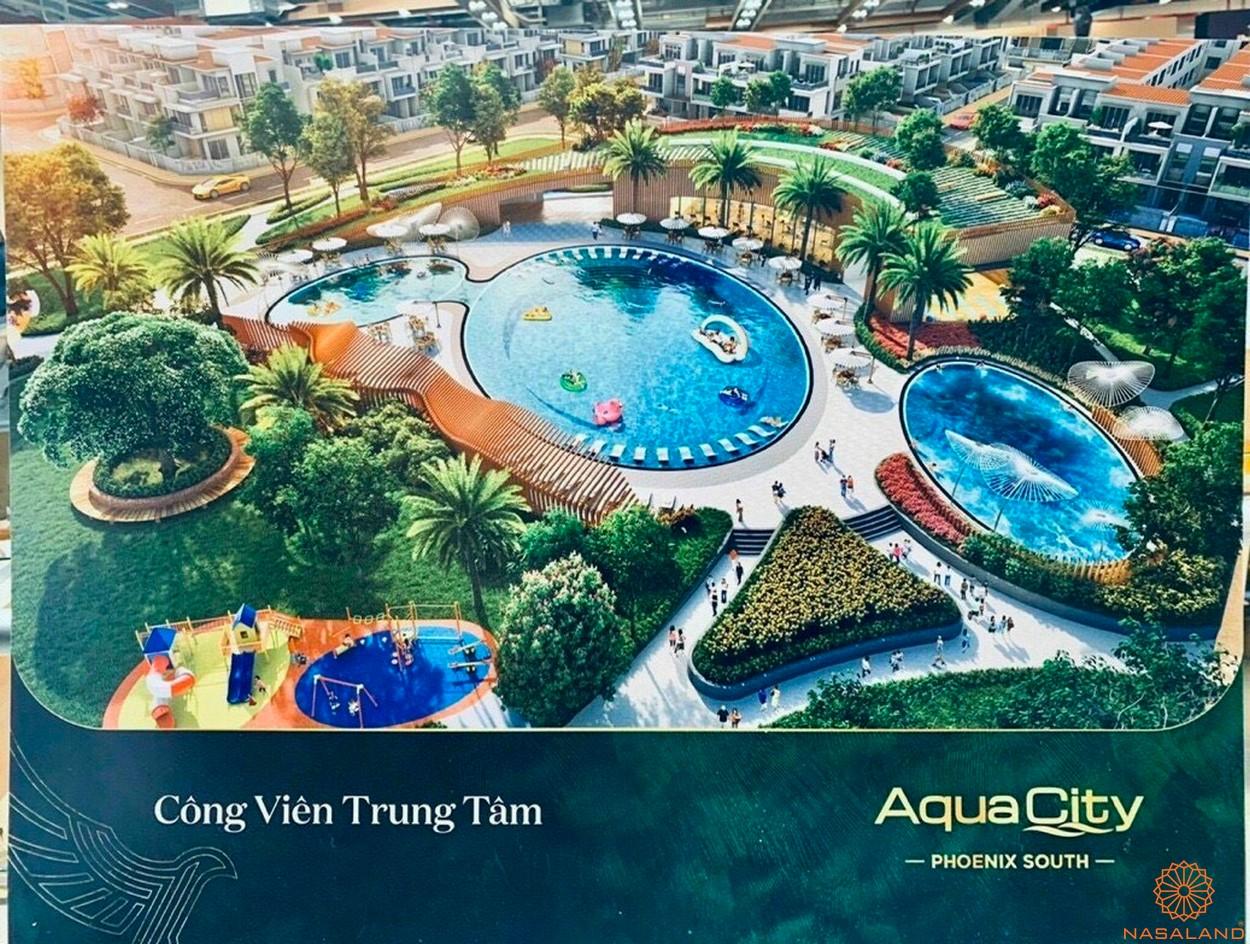 Tiện ích dự án Aqua City Đảo Phượng Hoàng - công viên trung tâm