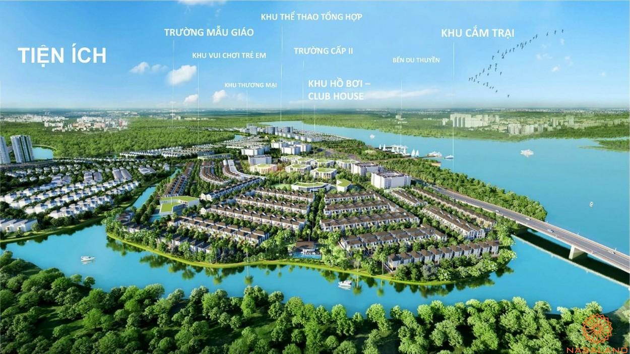 Mặt bằng tiện ích dự án biệt thự Aqua City Đảo Phượng Hoàng Đồng Nai
