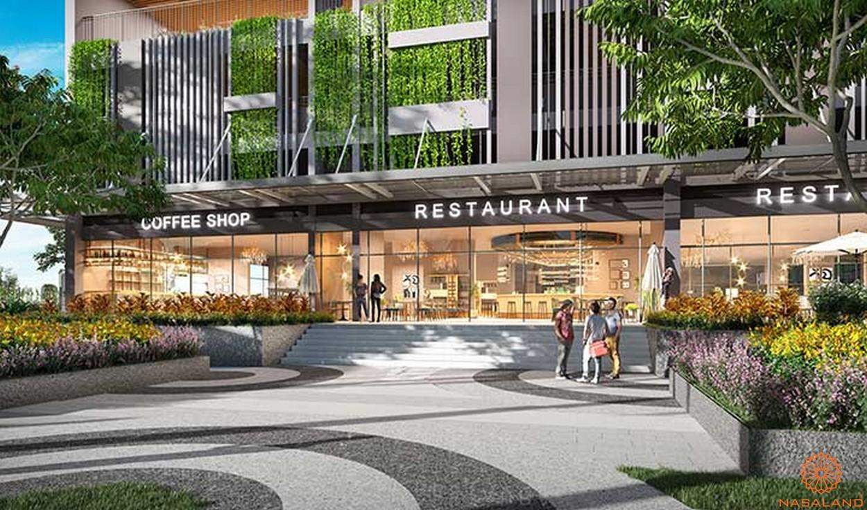 Tiện ích dự án căn hộ Opal Boulevard Bình Dương - nhà hàng cafe