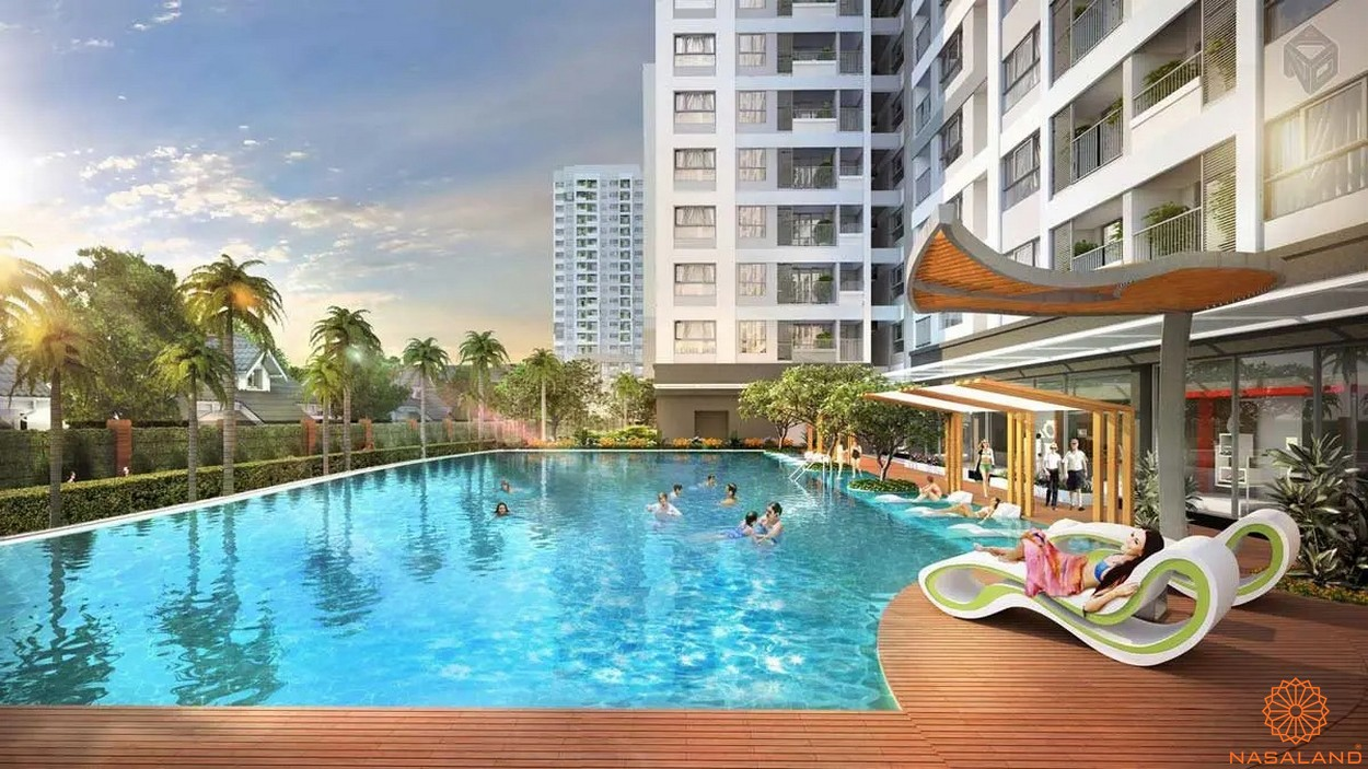 Tiện ích dự án căn hộ Unico Thăng Long - hồ bơi
