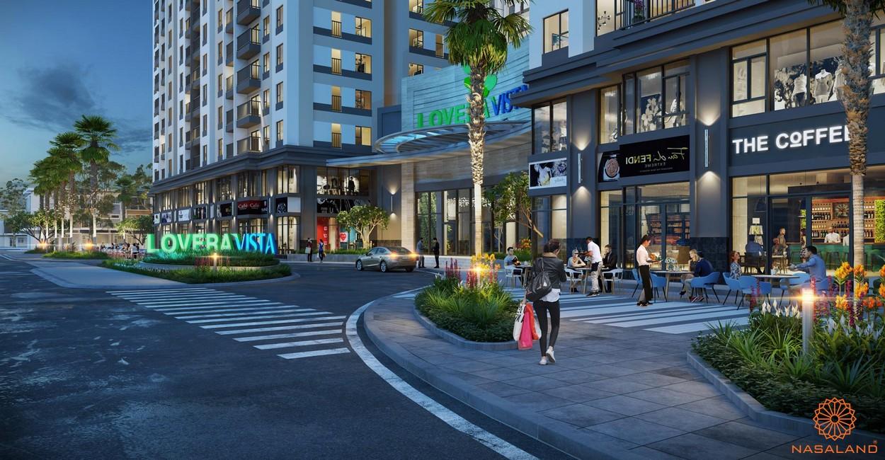 Tiện ích khu mua sắm dự án căn hộ Lovera Vista Bình Chánh