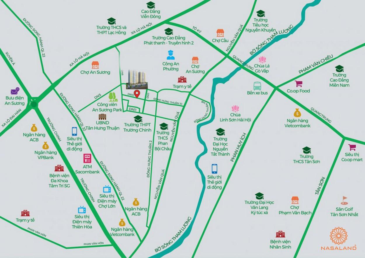 Vị trí địa lý dự án Asiana Summer City quận 12